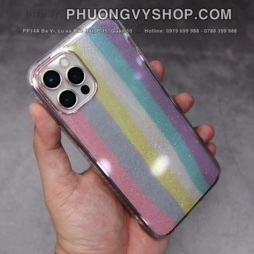 Ốp chống sốc iPhone 12 Promax - LIKGUS cầu vồng